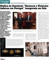 "Replica of the Exhibition ""Inheritances and Jewish Experiences in Portugal"" opened in Oslo"